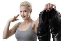 Ich liebe dich aber nicht Ihre Füße Lizenzfreies Stockfoto