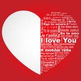 Ich liebe dich in allen Sprachen Stockbilder
