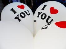 ` Ich liebe dich ` Ballon lizenzfreies stockbild