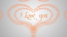 Ich liebe dich, beschriftend f?r Gru?kartenentwurf Exklusive schwarze Einladungskarte Orange Aufschrift auf dem hellen wei?en Hin stockfotos