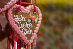 Ich liebe dich Royalty Free Stock Image