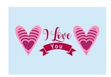 ` Ich liebe dich ` einfache Beschriftung im Vektor stock abbildung