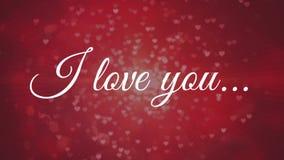 Ich liebe dich gegen roten Hintergrund lizenzfreie abbildung
