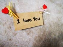 Ich liebe dich geschrieben auf die Wand lizenzfreies stockbild