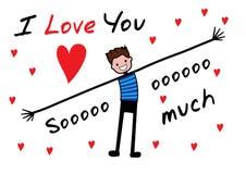 Ich liebe dich ich liebe dich soviel Lizenzfreies Stockbild