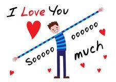 Ich liebe dich ich liebe dich soviel Lizenzfreie Stockfotos