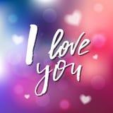 Ich liebe dich - Kalligraphie für Einladung, Grußkarte, Drucke, Lizenzfreies Stockfoto