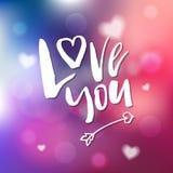 Ich liebe dich - Kalligraphie für Einladung, Grußkarte, Drucke, Stockfotografie
