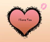 Ich liebe dich Karte Stockbild