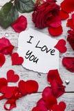 Ich liebe dich Karte Stockfoto