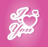 Ich liebe dich mit Buchstaben bezeichnend Stockfoto