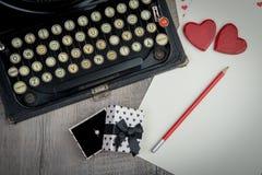Ich liebe dich mit Schreibmaschine Lizenzfreie Stockbilder