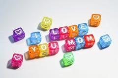 Ich liebe dich Mutter - glücklicher Muttertag Lizenzfreies Stockfoto