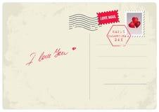 'Ich liebe dich' Postkarte Stockfotografie