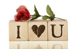 Ich liebe dich Rose Lizenzfreie Stockfotos