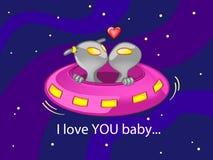 Ich liebe dich Schätzchen Stockbild