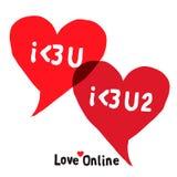 Ich liebe dich Social Networking-Sprache-Blasen Lizenzfreies Stockbild