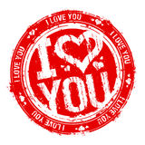 Ich liebe dich Stempel. Lizenzfreie Stockbilder
