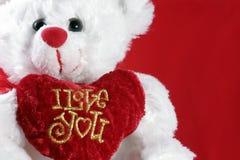 Ich liebe dich Teddybär Lizenzfreie Stockfotos