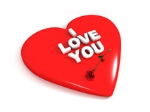 Ich liebe dich und stieg vektor abbildung
