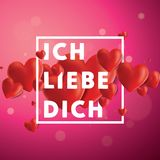 Ich liebe dich Vector Background Royalty Free Stock Photography