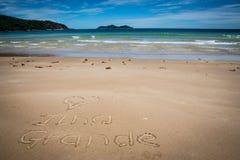 Ich liebe großes Ilha, Sprünge Mendes, Strand Unglaubliches Paradies BR stockfotos