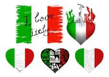Ich liebe Italien-Set Stockbild