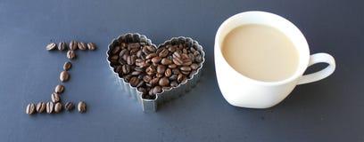 Ich liebe Kaffee Stockfoto