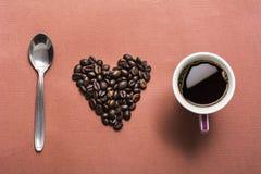 Ich liebe Kaffee lizenzfreies stockfoto