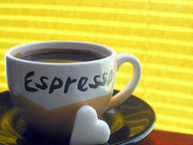 Ich liebe Kaffee Stockfotos