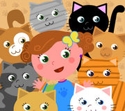 Ich liebe Katzen! Stockfotografie