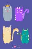 Ich liebe Katzen Stockfotos