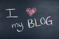 Ich liebe mein Blog Stockfotos