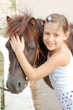 Ich liebe mein Pony Lizenzfreies Stockfoto