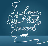 Ich liebe meinen Katzenmiauentitel Lizenzfreies Stockbild
