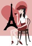 Ich liebe Paris lizenzfreie abbildung