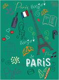 Ich liebe Paris stock abbildung