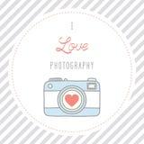 Ich liebe photography2 Lizenzfreies Stockbild