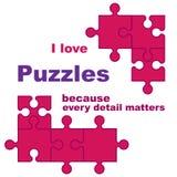Ich liebe Puzzlespiele stockfotografie