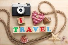 Ich liebe Reise lizenzfreie stockbilder
