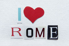 Ich liebe Rom-Zeichen Lizenzfreie Stockfotos