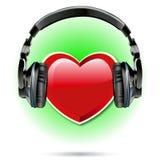 Ich liebe Schlagvektor der Musik 2 Lizenzfreies Stockfoto