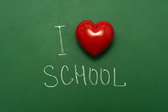 Ich liebe Schule Lizenzfreies Stockbild