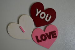 Ich liebe Sie, die Sie, ist Bedarf Liebe Lizenzfreie Stockfotos