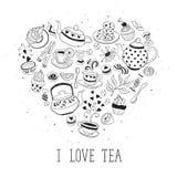 Ich liebe Teeplakat Stockbilder