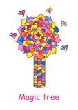 Ich machte mich Mosaikbaum Lizenzfreies Stockbild