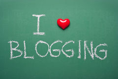 Ich mag blogging Stockbild