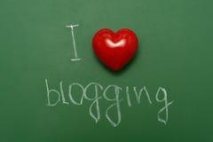 Ich mag blogging Lizenzfreies Stockbild