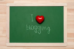 Ich mag blogging Stockfotos