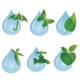 Ich mag die neue und reine wasser- Sammlung Waterdrop stock abbildung